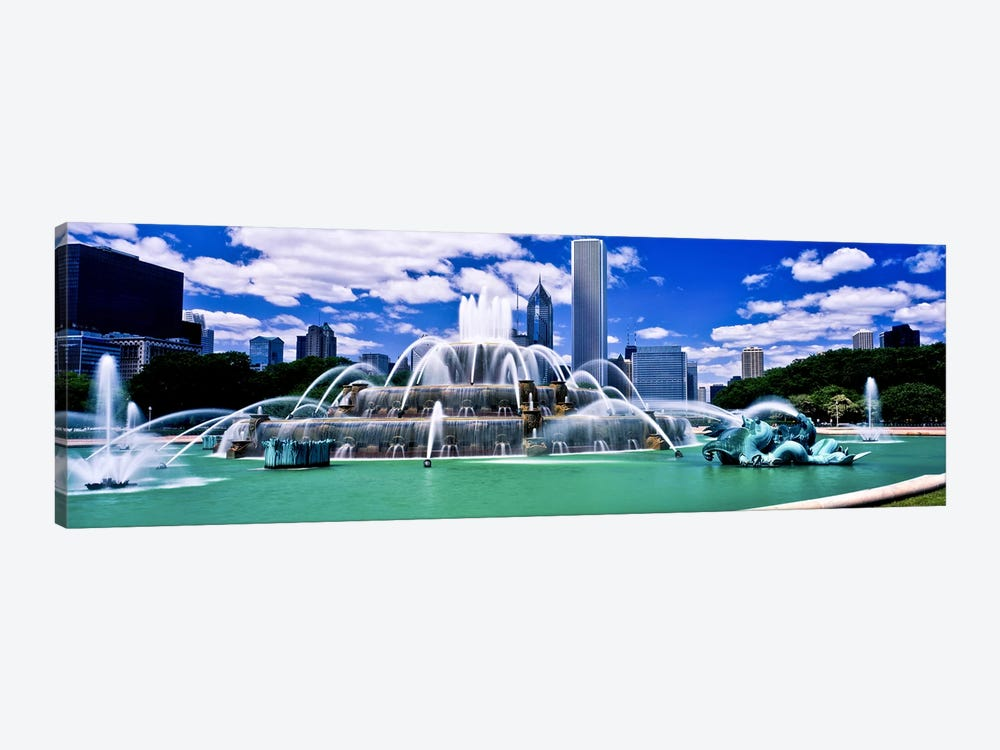 Buckingham Fountain in Grant Park, Chicago, Cook County, Illinois, USA by Panoramic Images 1-piece Art Print