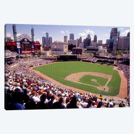 Home of the Detroit Tigers Baseball Team, Comerica Park, Detroit, Michigan, USA Canvas Print #PIM10984} by Panoramic Images Canvas Artwork