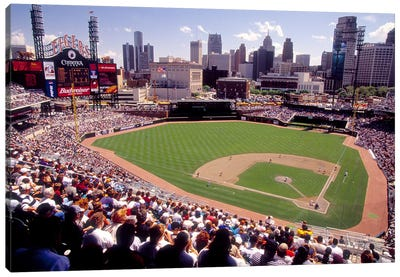 Home of the Detroit Tigers Baseball Team, Comerica Park, Detroit, Michigan, USA Canvas Art Print
