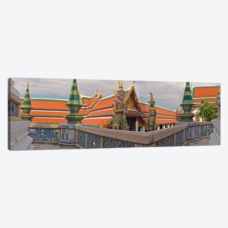 The Grand Palace (Phra Borom Maha Ratcha Wang) is a complex of buildings at the heart of Bangkok, Thailand Canvas Print #PIM10986} by Panoramic Images Canvas Art