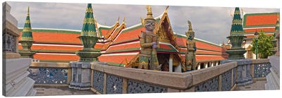 The Grand Palace (Phra Borom Maha Ratcha Wang) is a complex of buildings at the heart of Bangkok, Thailand Canvas Art Print