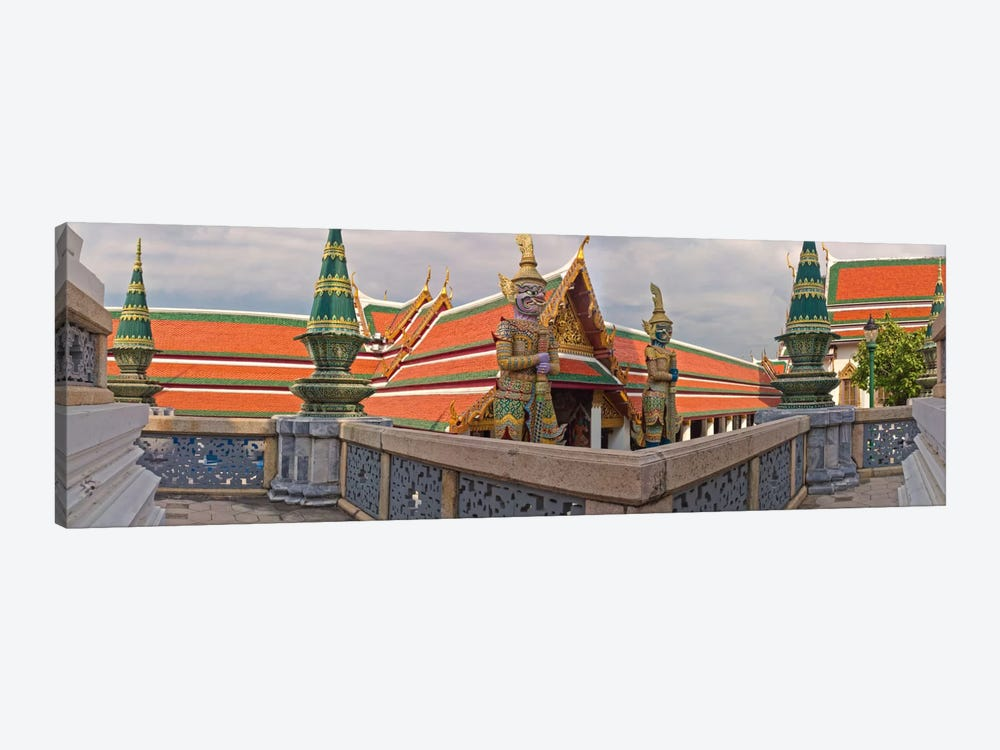 The Grand Palace (Phra Borom Maha Ratcha Wang) is a complex of buildings at the heart of Bangkok, Thailand 1-piece Canvas Artwork