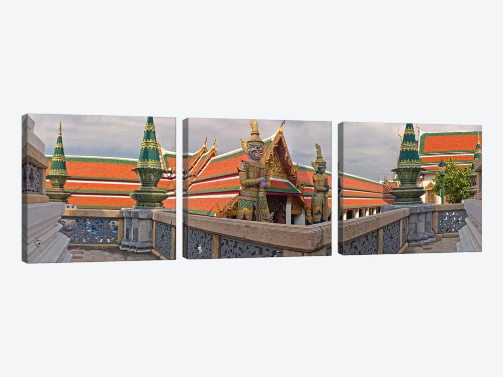The Grand Palace (Phra Borom Maha Ratcha Wang) is a complex of buildings at the heart of Bangkok, Thailand by Panoramic Images 3-piece Canvas Artwork