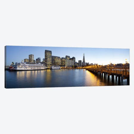 San Francisco PierSan Francisco, Califorina Canvas Print #PIM10987} by Panoramic Images Canvas Wall Art