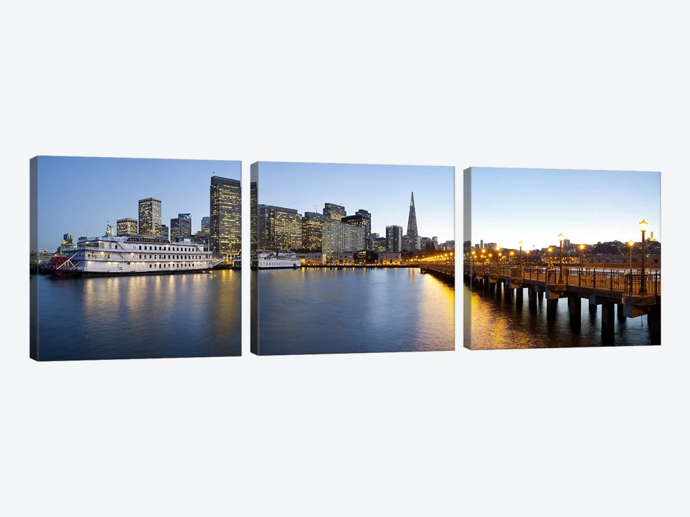 San Francisco PierSan Francisco, Califorina by Panoramic Images 3-piece Canvas Print