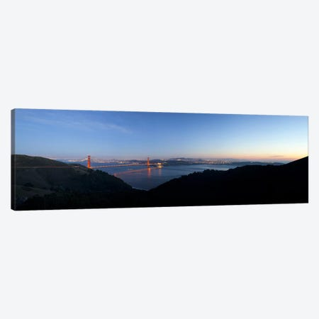 Hawk Hill, Marin Headlands, Goden Gate Bridge, San Francisco, Califorina Canvas Print #PIM10988} by Panoramic Images Canvas Print