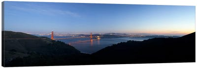 Hawk Hill, Marin Headlands, Goden Gate Bridge, San Francisco, Califorina Canvas Art Print
