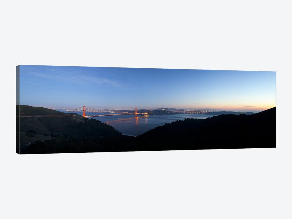 Hawk Hill, Marin Headlands, Goden Gate Bridge, San Francisco, Califorina by Panoramic Images 1-piece Canvas Wall Art
