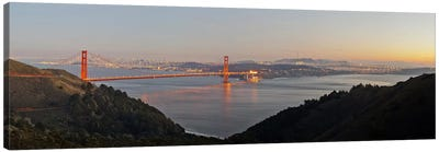 Hawk Hill, Marin Headlands, Goden Gate Bridge, San Francisco, Califorina #2 Canvas Art Print