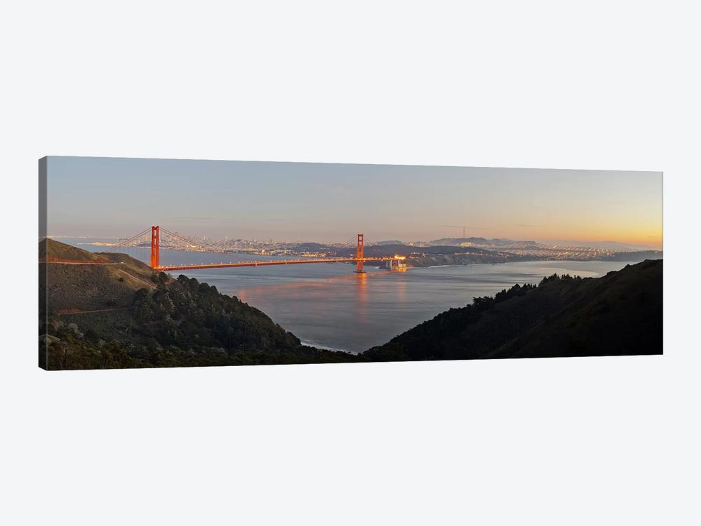 Hawk Hill, Marin Headlands, Goden Gate Bridge, San Francisco, Califorina #2 by Panoramic Images 1-piece Canvas Art Print