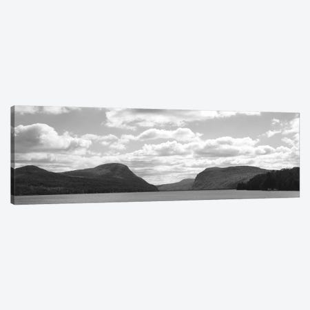 Willoughby Notch In B&W Featuring Mount Pisgah And Mount Hor, Lake Willoughby, Orleans County, Vermont, USA Canvas Print #PIM10995} by Panoramic Images Art Print