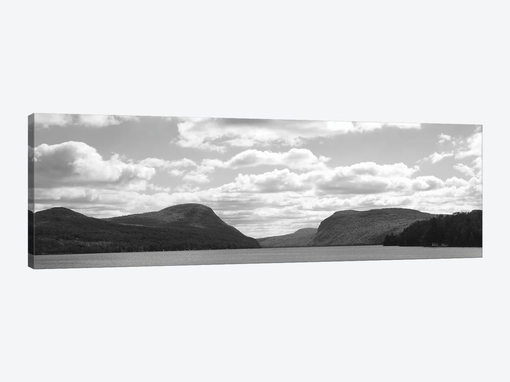 Willoughby Notch In B&W Featuring Mount Pisgah And Mount Hor, Lake Willoughby, Orleans County, Vermont, USA by Panoramic Images 1-piece Canvas Art