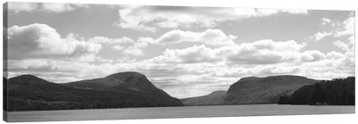 Willoughby Notch In B&W Featuring Mount Pisgah And Mount Hor, Lake Willoughby, Orleans County, Vermont, USA Canvas Art Print