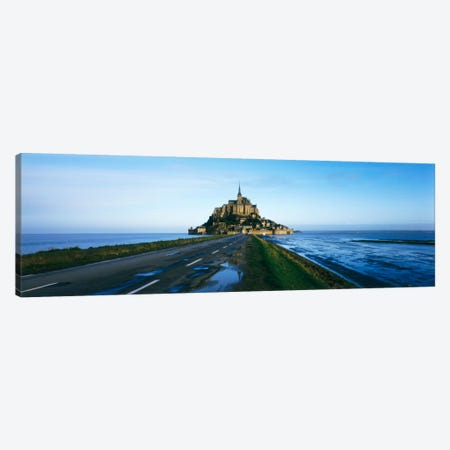 Long Shot, Le Mont-Saint-Michel, Normandy, France Canvas Print #PIM109} by Panoramic Images Art Print