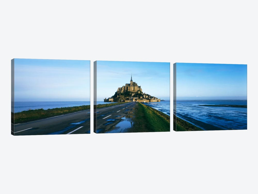 Long Shot, Le Mont-Saint-Michel, Normandy, France by Panoramic Images 3-piece Canvas Artwork