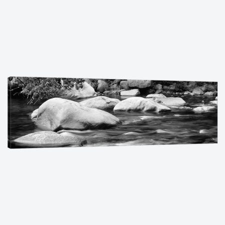 River Rocks In B&W, Swift River, White Mountain National Forest, New Hampshire, USA Canvas Print #PIM11001} by Panoramic Images Canvas Art Print