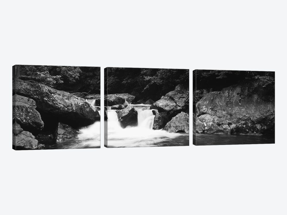River in a forest, Tallulah River, Coleman River Scenic Area, Chattahoochee-Oconee National Forest, Georgia, USA by Panoramic Images 3-piece Art Print
