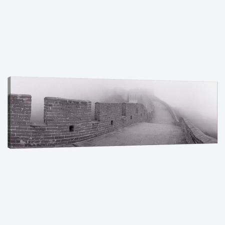 Mutianyu Section In B&W, Great Wall Of China, People's Republic Of China Canvas Print #PIM11018} by Panoramic Images Canvas Wall Art