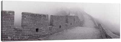 Mutianyu Section In B&W, Great Wall Of China, People's Republic Of China Canvas Print #PIM11018