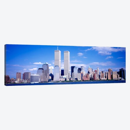 USA, New York City, with World Trade Center Canvas Print #PIM1102} by Panoramic Images Canvas Art