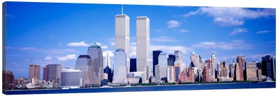 USA, New York City, with World Trade Center Canvas Art Print