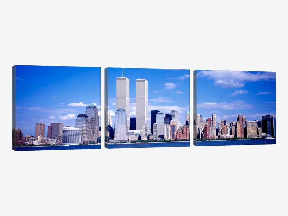 USA, New York City, with World Trade Center 3-piece Canvas Art Print