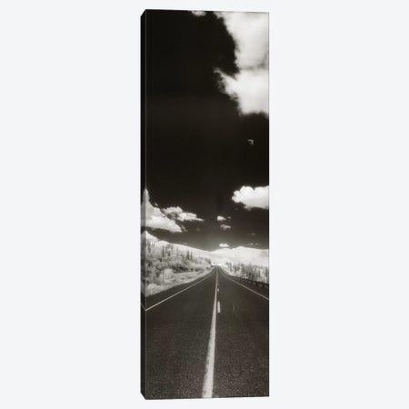 Long Road Ahead, Alaska Highway, Alaska, USA 3-Piece Canvas #PIM11038} by Panoramic Images Canvas Artwork