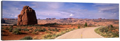 Road Courthouse Towers Arches National Park Moab UT USA Canvas Print #PIM1103