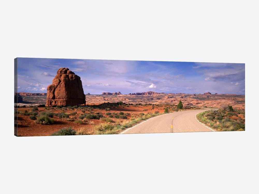 Road Courthouse Towers Arches National Park Moab UT USA 1-piece Canvas Art