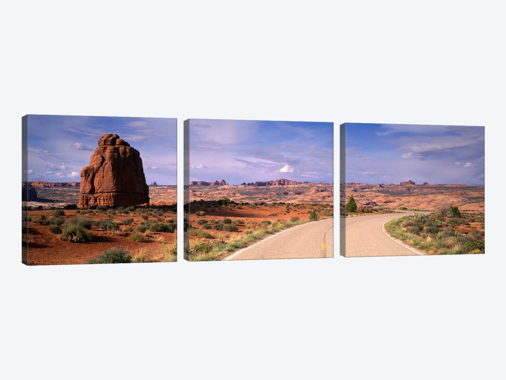 Road Courthouse Towers Arches National Park Moab UT USA 3-piece Canvas Art