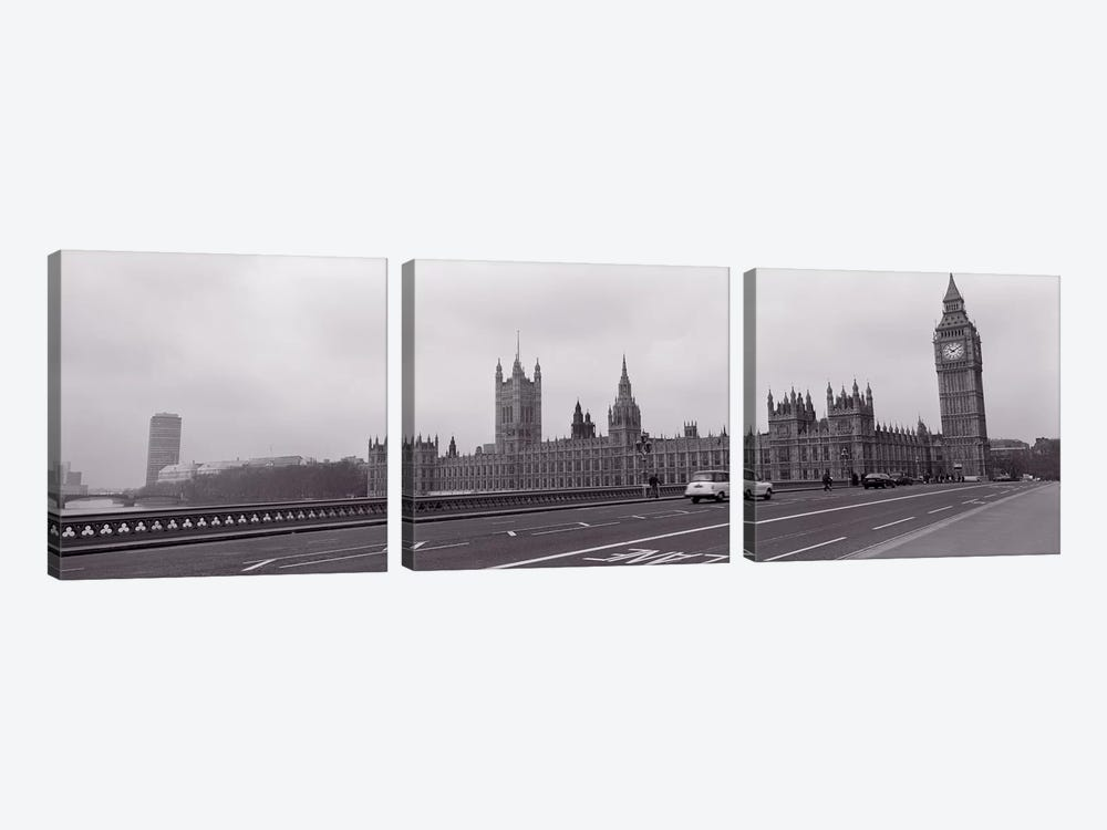 Parliament Building, Big Ben, London, England, United Kingdom by Panoramic Images 3-piece Canvas Wall Art