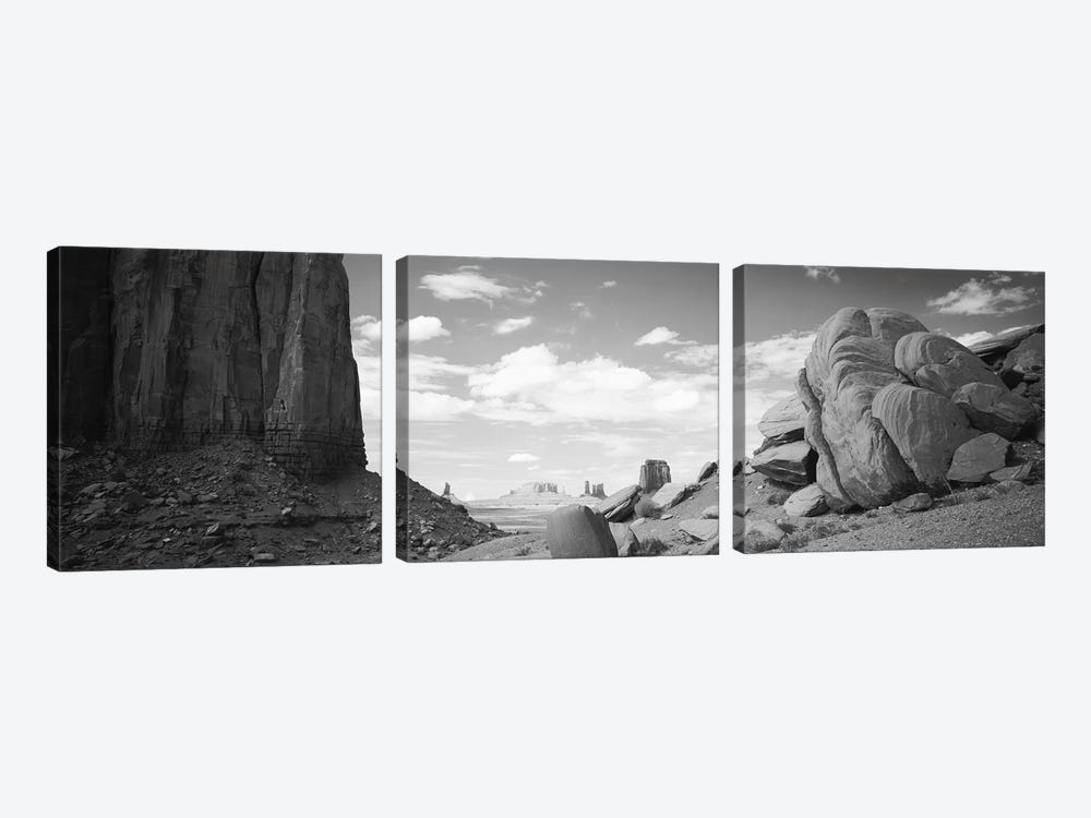 Monument Valley, Arizona, USA by Panoramic Images 3-piece Canvas Wall Art