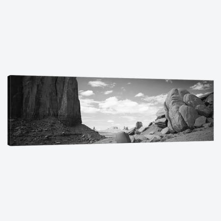 Monument Valley, Arizona, USA 3-Piece Canvas #PIM11048} by Panoramic Images Art Print