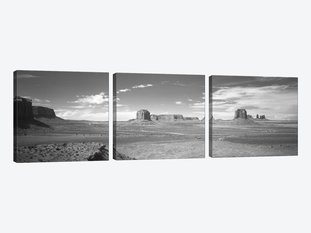 Desert Landscape, Monument Valley, Navajo Nation, USA by Panoramic Images 3-piece Art Print