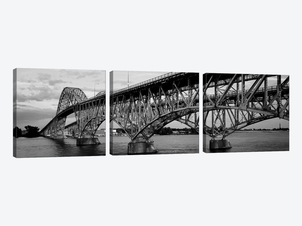 South Grand Island Bridges, New York State, USA by Panoramic Images 3-piece Art Print