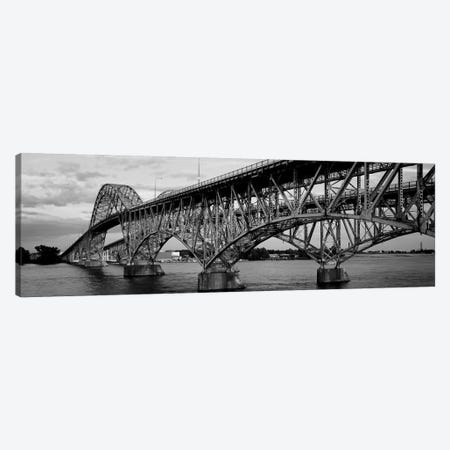 South Grand Island Bridges, New York State, USA 3-Piece Canvas #PIM11058} by Panoramic Images Canvas Artwork