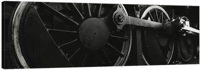 Steam Locomotive Driving Wheels In B&W Canvas Print #PIM11059