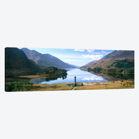 Picturesque Landscape Featuring Glenfinnan Monument & Loch Shiel, Glenfinnan, Highlands, Scotland, United Kingdom Canvas Print #PIM1105} by Panoramic Images Art Print