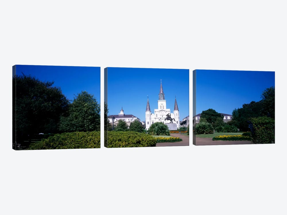 Jackson Square, New Orleans, Louisiana, USA #2 by Panoramic Images 3-piece Canvas Art Print