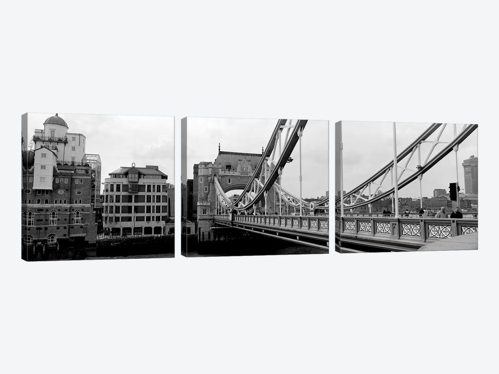 Tower Bridge, London, England, United Kingdom by Panoramic Images 3-piece Canvas Art Print
