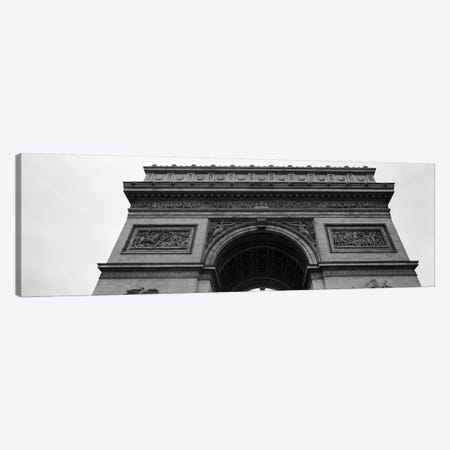 Low angle view of a triumphal arch, Arc de Triomphe, Paris, Ile-De-France, France Canvas Print #PIM11073} by Panoramic Images Canvas Art