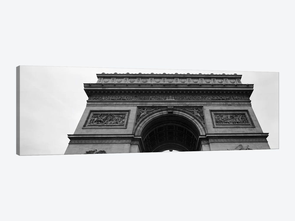 Low angle view of a triumphal arch, Arc de Triomphe, Paris, Ile-De-France, France by Panoramic Images 1-piece Canvas Artwork