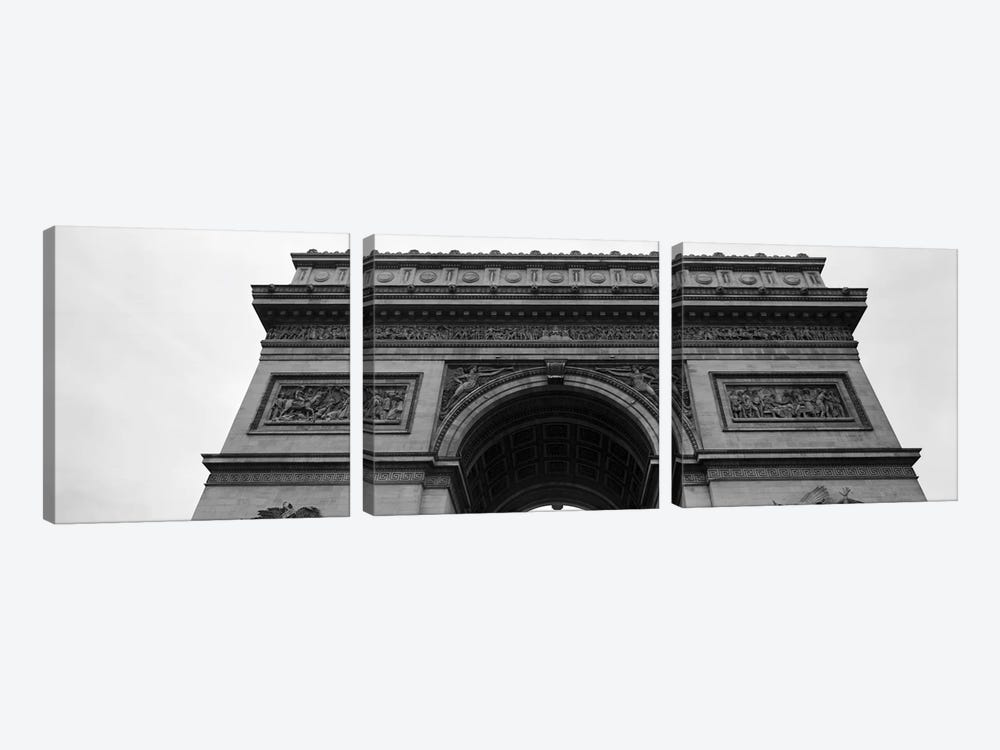 Low angle view of a triumphal arch, Arc de Triomphe, Paris, Ile-De-France, France by Panoramic Images 3-piece Canvas Artwork