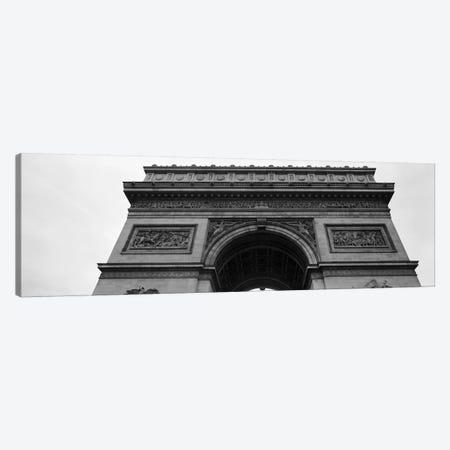 Low angle view of a triumphal arch, Arc de Triomphe, Paris, Ile-De-France, France Canvas Print #PIM11073} by Panoramic Images Canvas Art