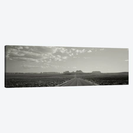 Long Road, Monument Valley, Utah, USA Canvas Print #PIM11079} by Panoramic Images Canvas Artwork
