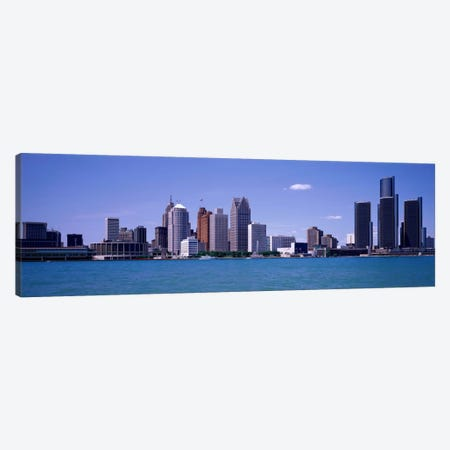 Detroit MI USA Canvas Print #PIM1107} by Panoramic Images Art Print