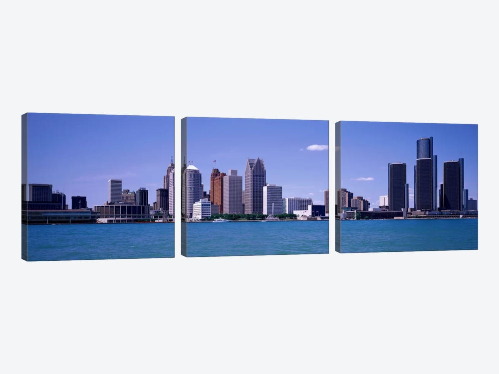 Detroit MI USA 3-piece Canvas Art