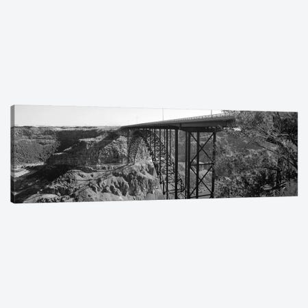 Snake River Bridge, Twin Falls, Idaho, USA 3-Piece Canvas #PIM11082} by Panoramic Images Art Print