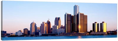 Morning, Detroit, Michigan, USA Canvas Art Print