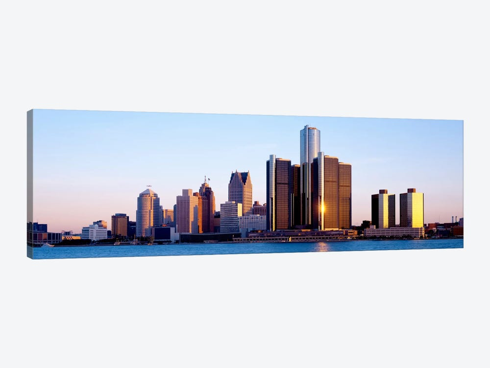 Morning, Detroit, Michigan, USA by Panoramic Images 1-piece Canvas Art Print